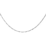 14'' Figaro chain for kids - 10K white Gold