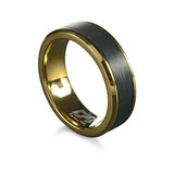 Band for man - Yellow stainless steel & Black Carbon fiber