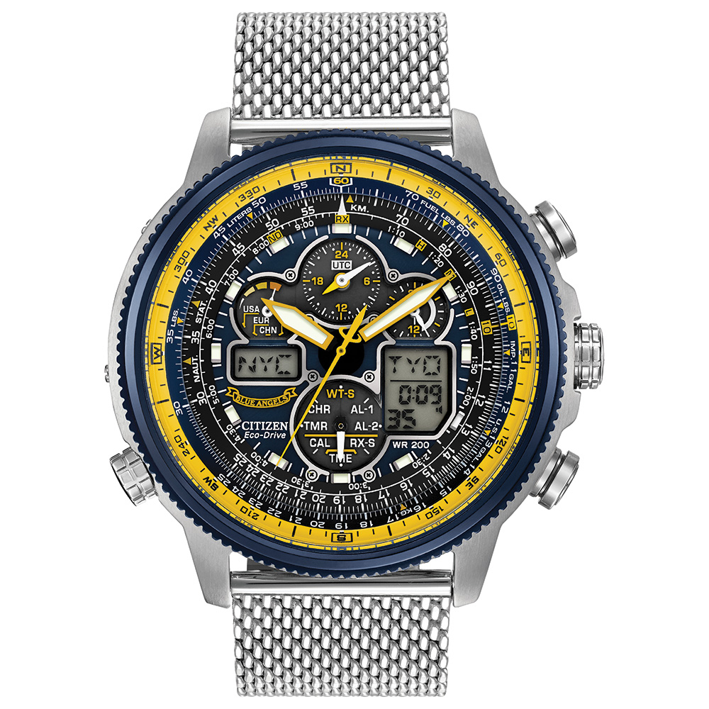 Eco-Drive watch for men - Anti-reflective mineral crystal - Fonctions: -Atomic timekeeping with synchronized time adjustment available in 43 world cities -Chronograph -Second time zone
