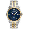 Eco-Drive watch for men - Blue dial with mineral crystal - Functions: Date