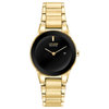 Eco-Drive watch for women - Black dial with mineral crystal and Date
