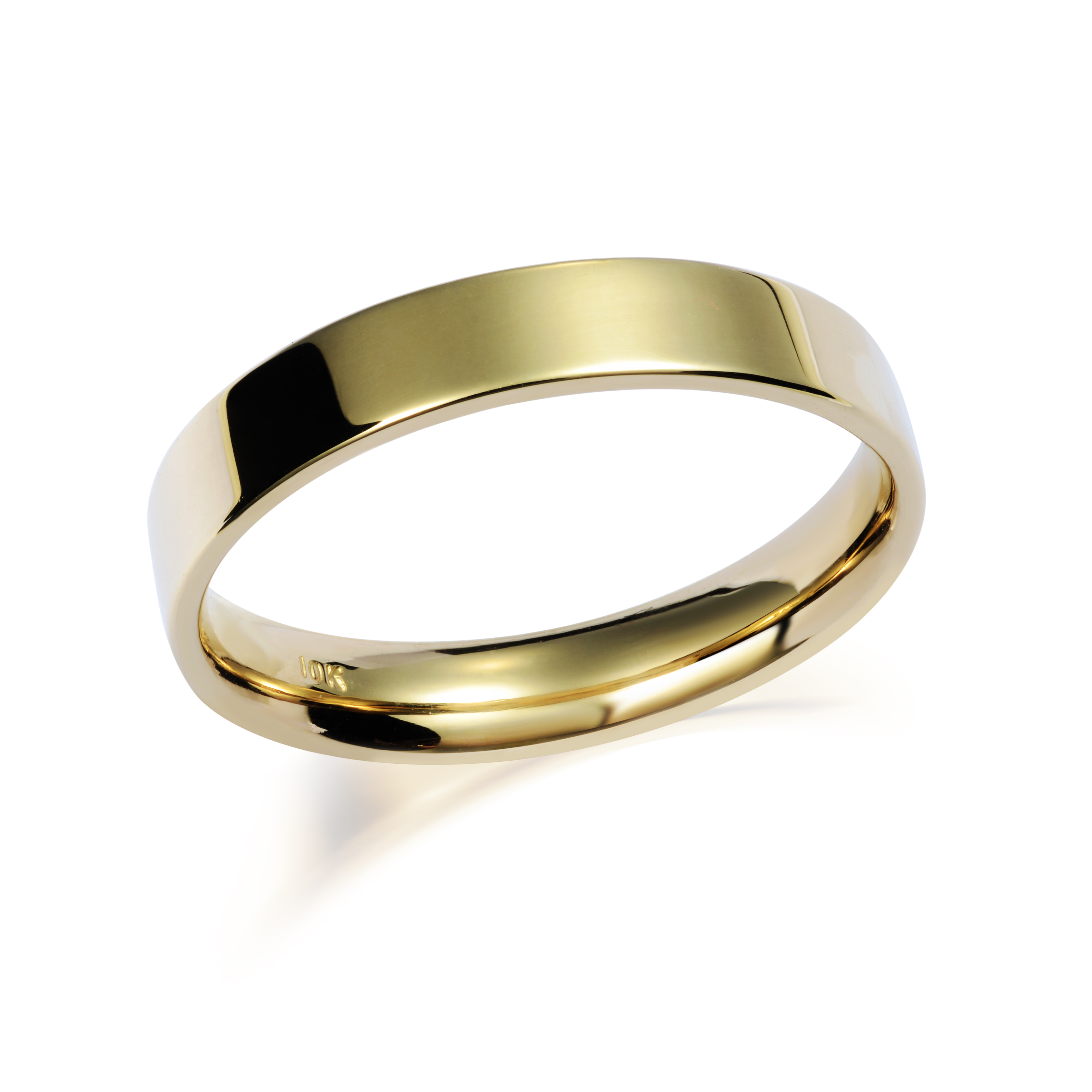 Flat band for man - 10K yellow Gold