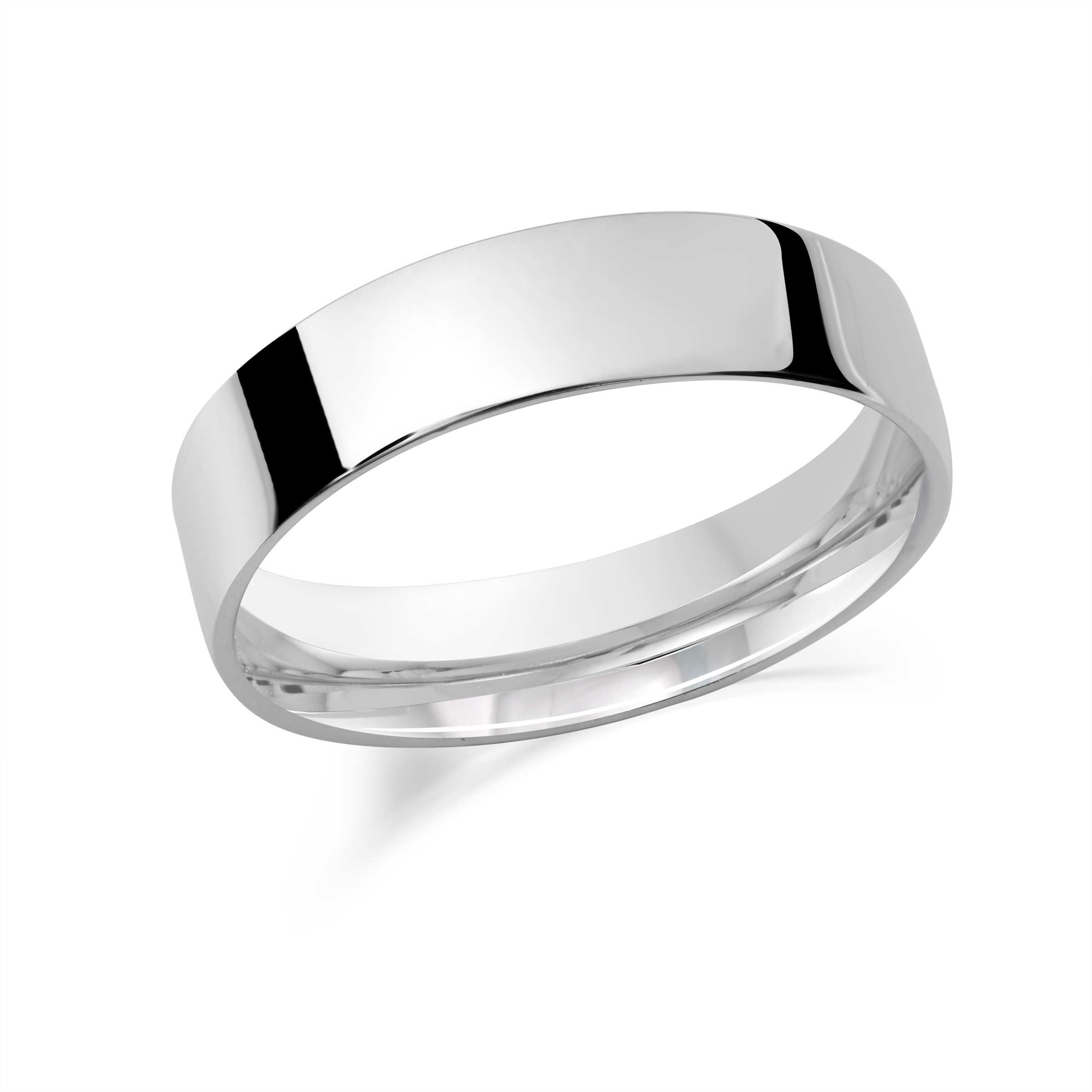 Flat sterling silver band