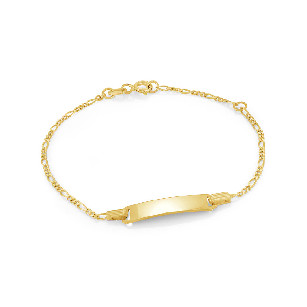 Bracelet d'identité pour enfants - Or jaune 10K