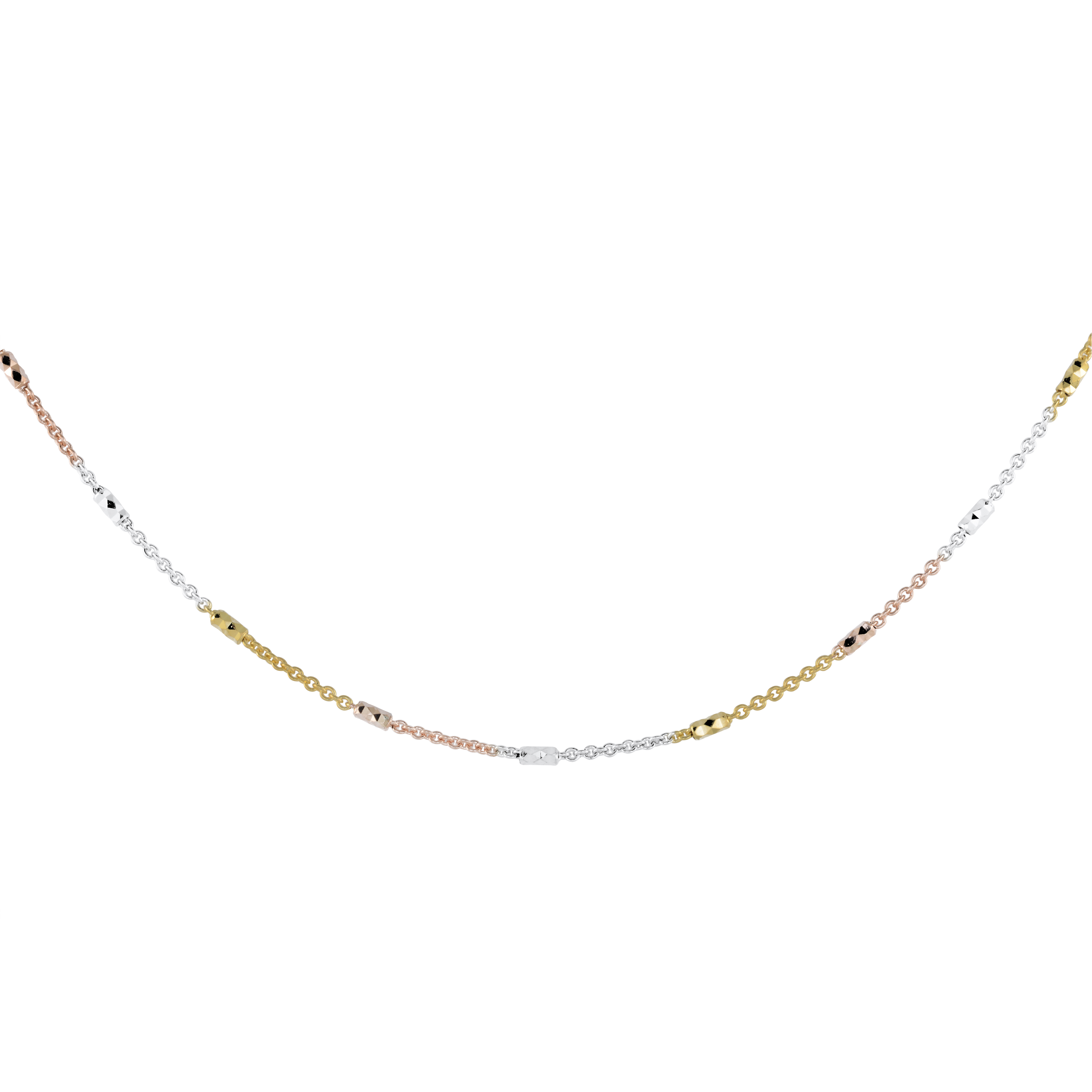 18'' Chain with intervals - 10K 3-tone Gold