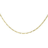16'' Figaro chain for women - 10K yellow Gold
