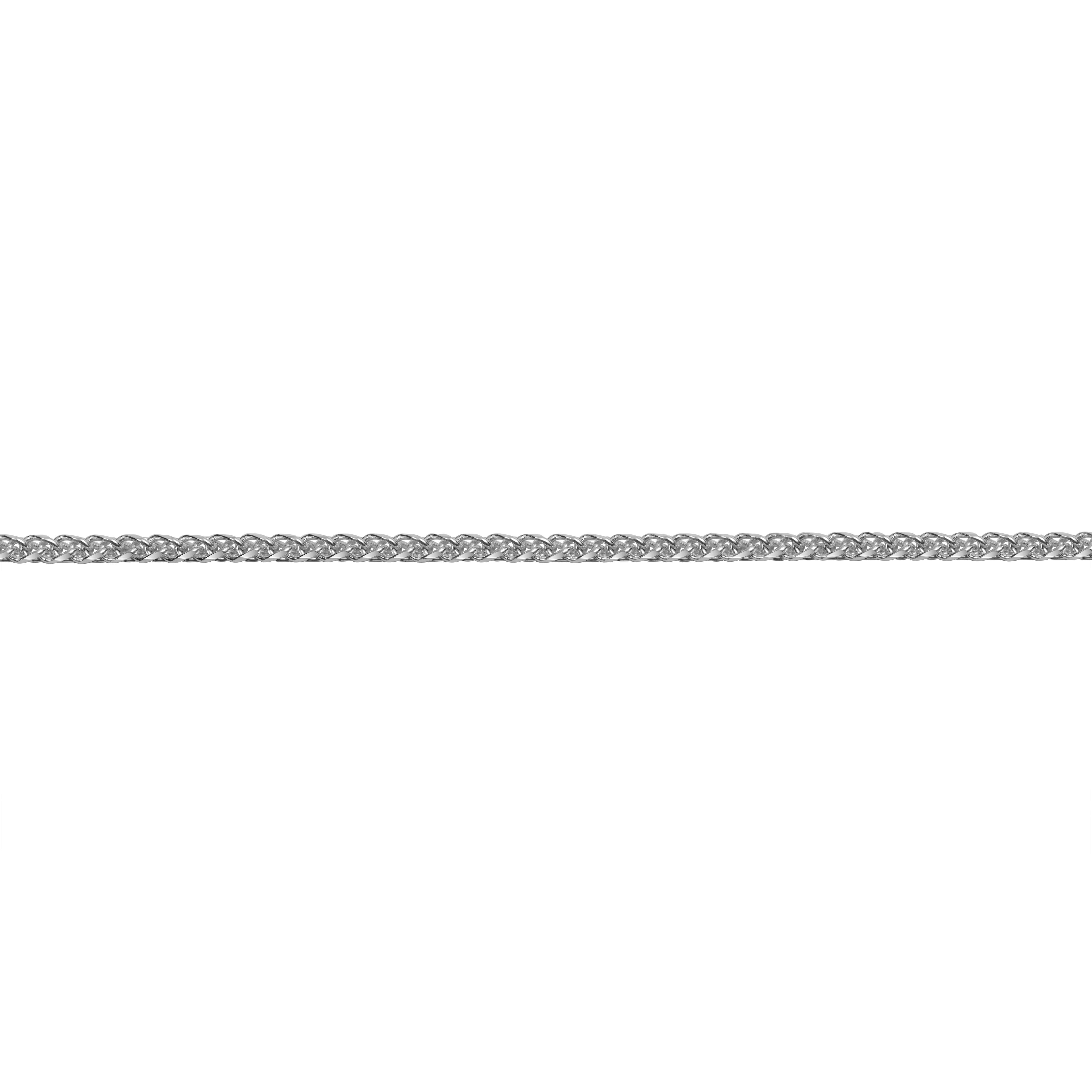 Bracelet de cheville 10'' coupe diamant - Or blanc 10K