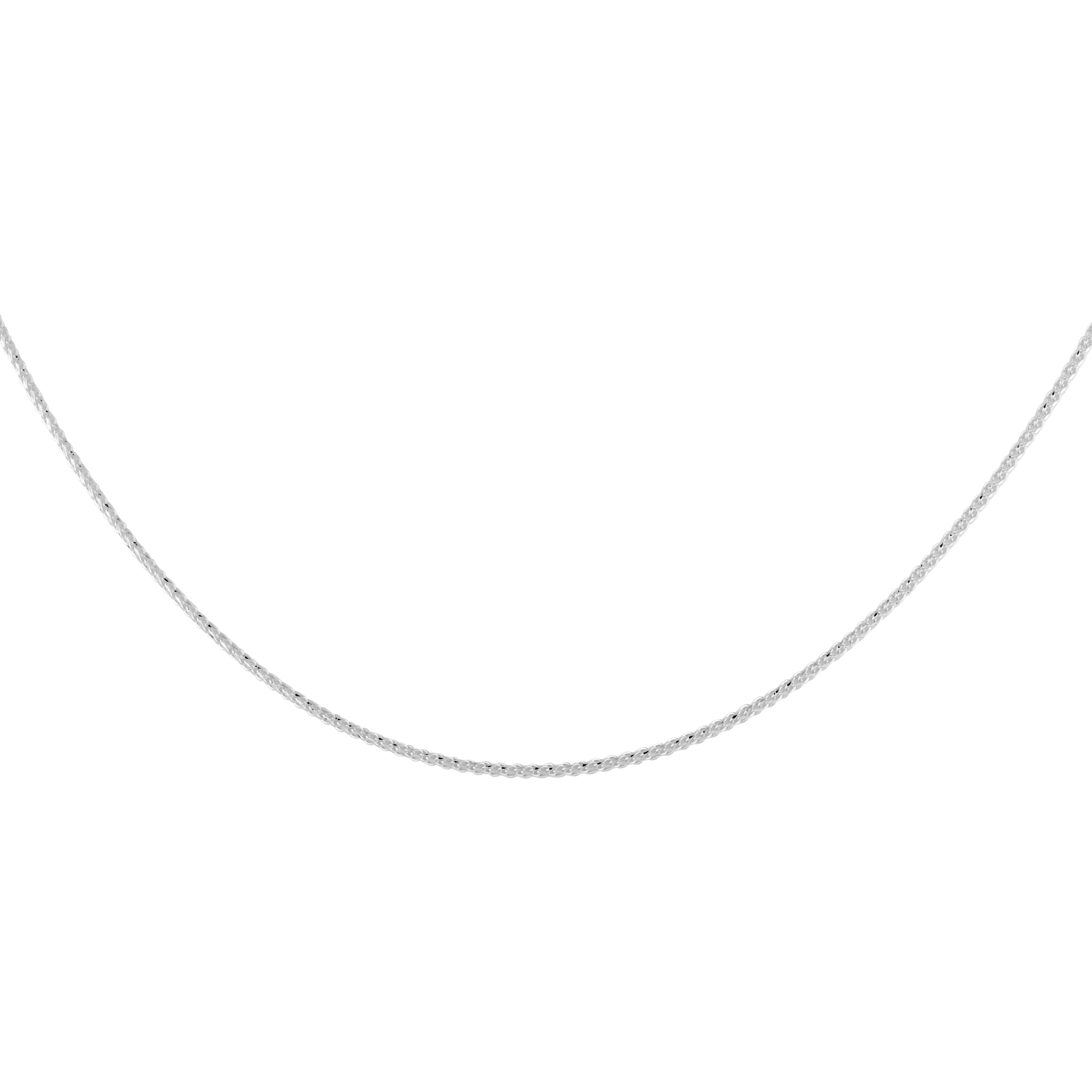 18'' Diamond cut chain - 10K white Gold