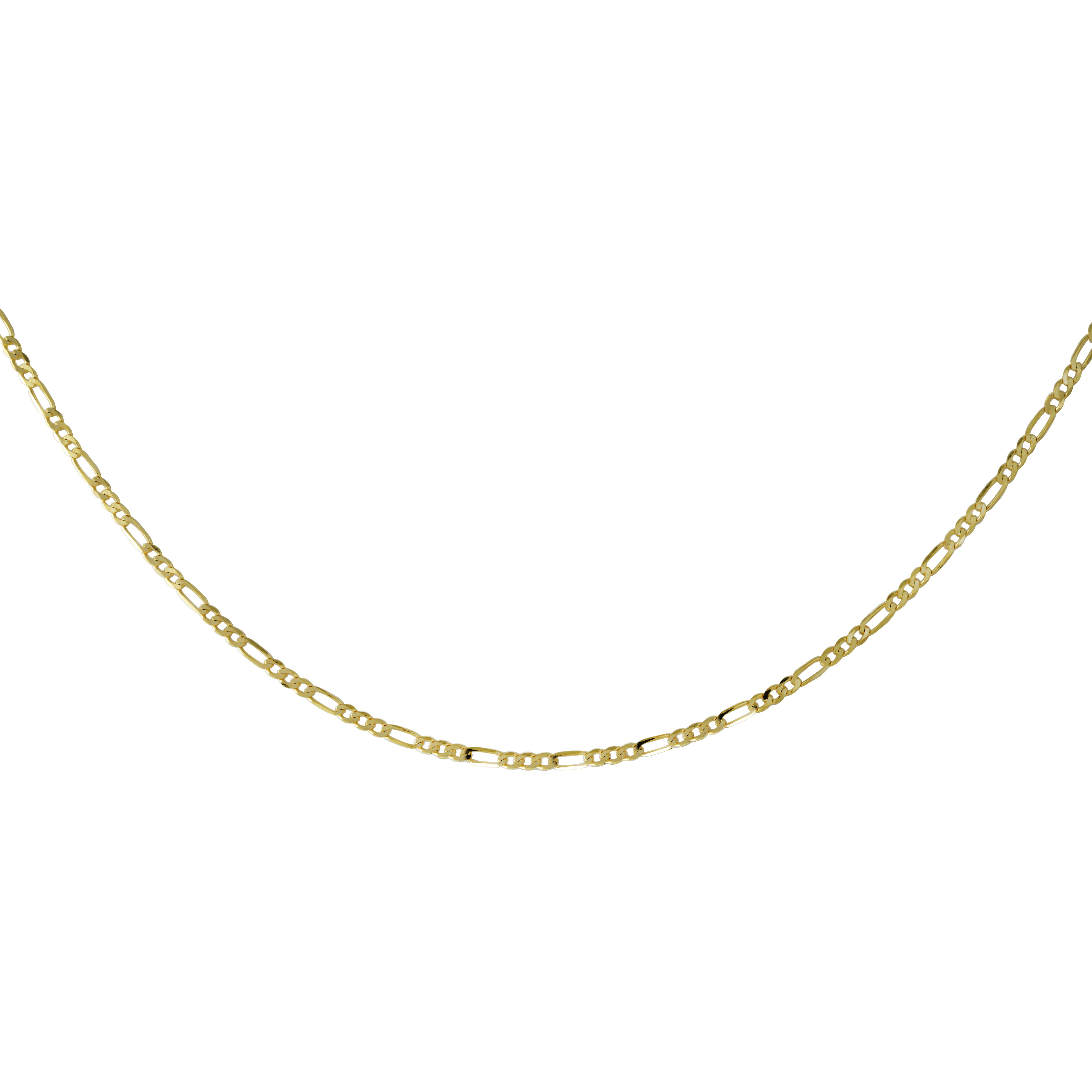 Chaîne 18'' figaro pour femme - Or jaune 10K