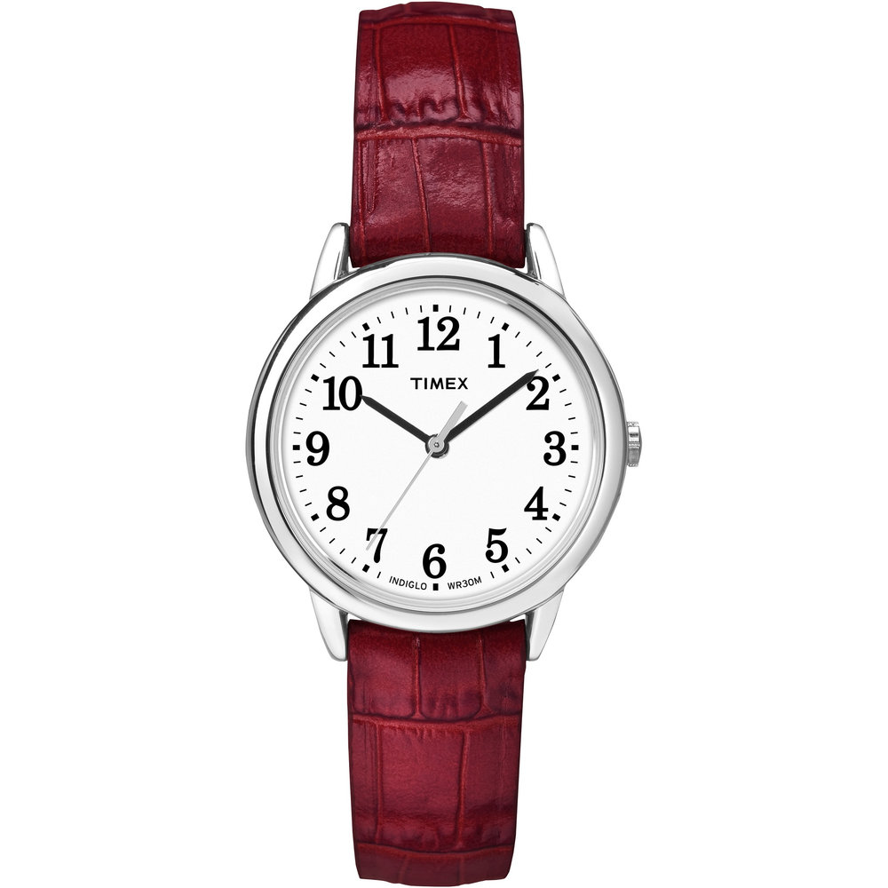 Easy Reader Timex Watch - Stainless Steel & Leather Band