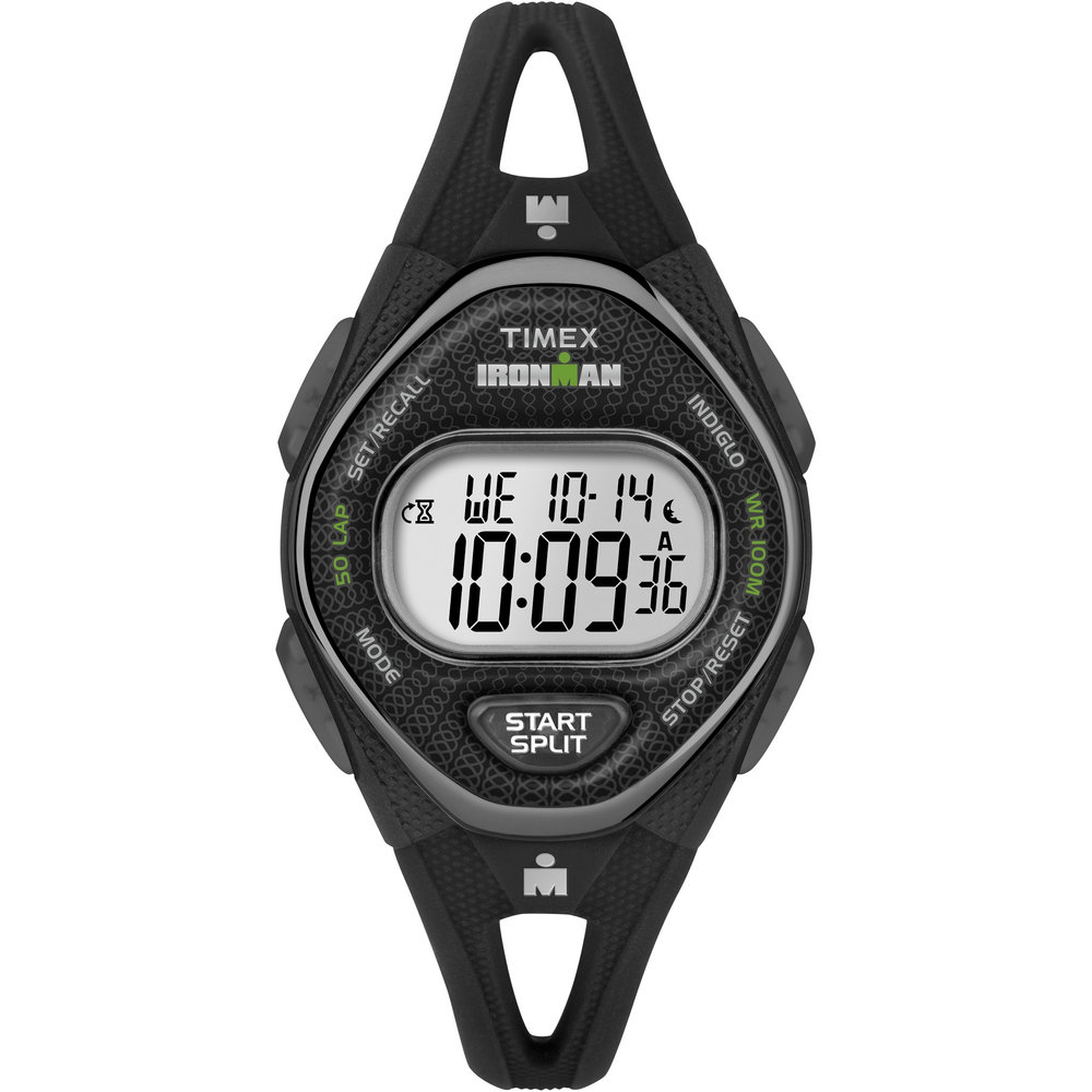 Sleek 50 Mid-SIze Timex Digital Watch - Silicone Strap