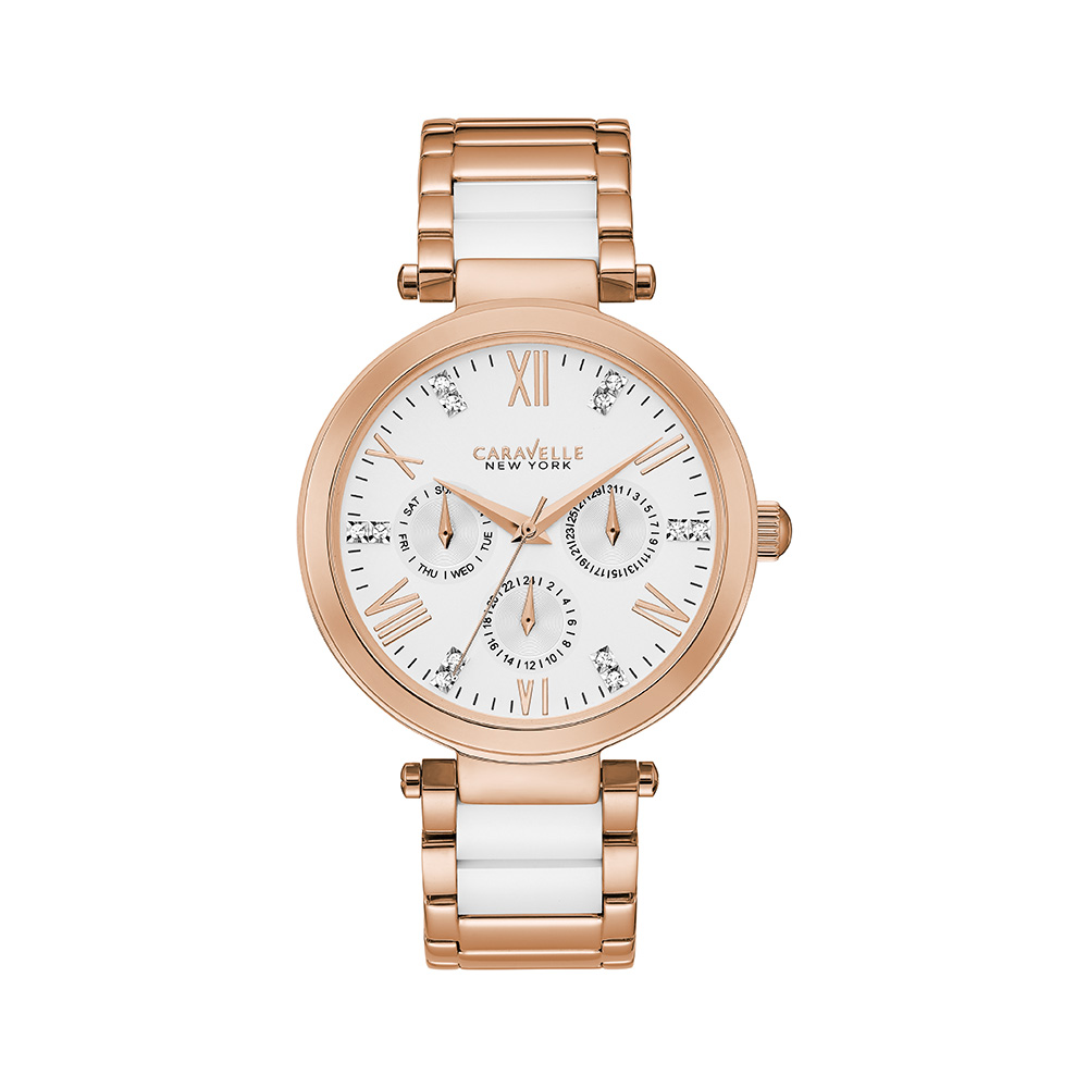 NY Watch for Women - Stainless Steel & White Ceramic
