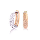 Hoop earrings for women - 10K 2-tone Gold