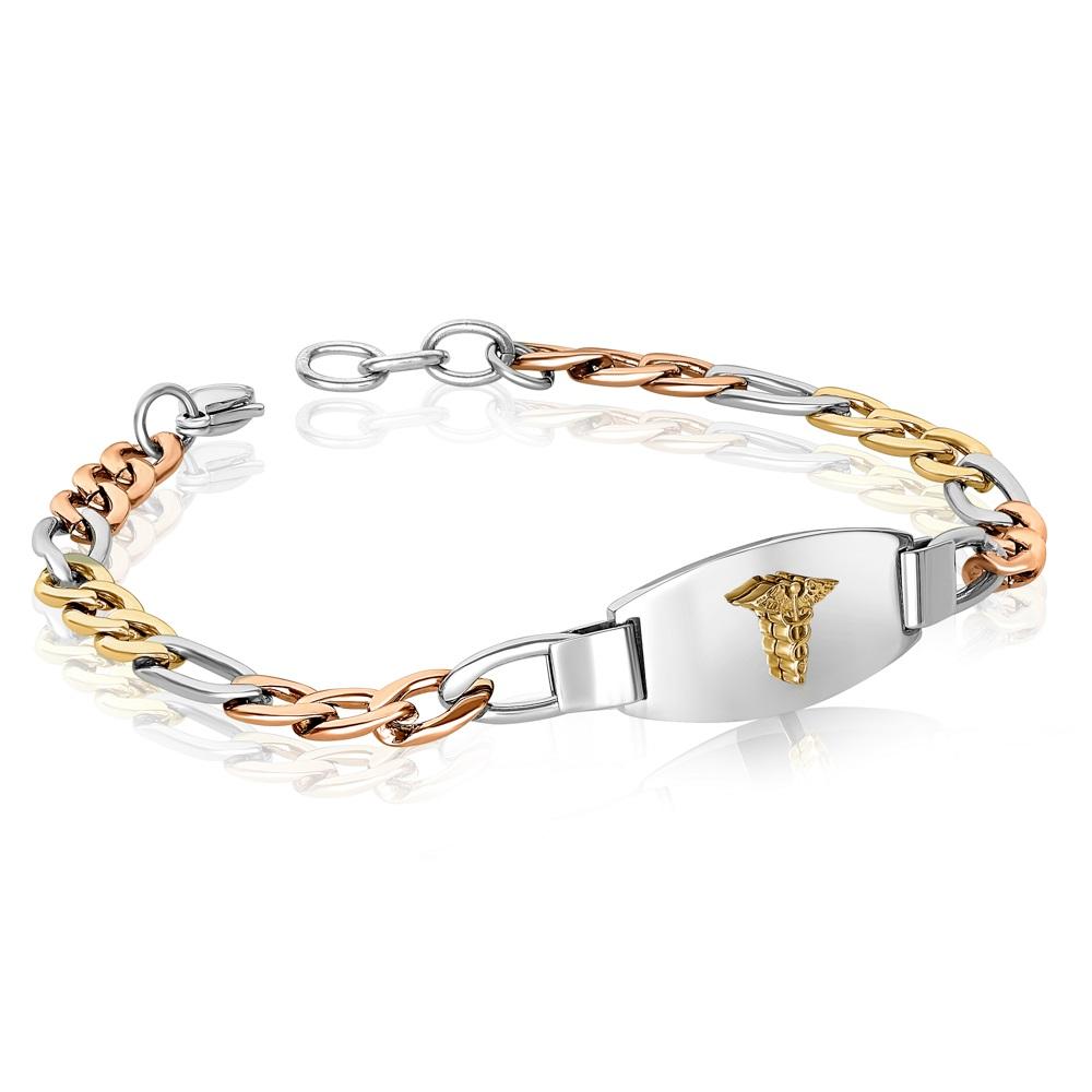 Bracelet médical en acier inoxydable