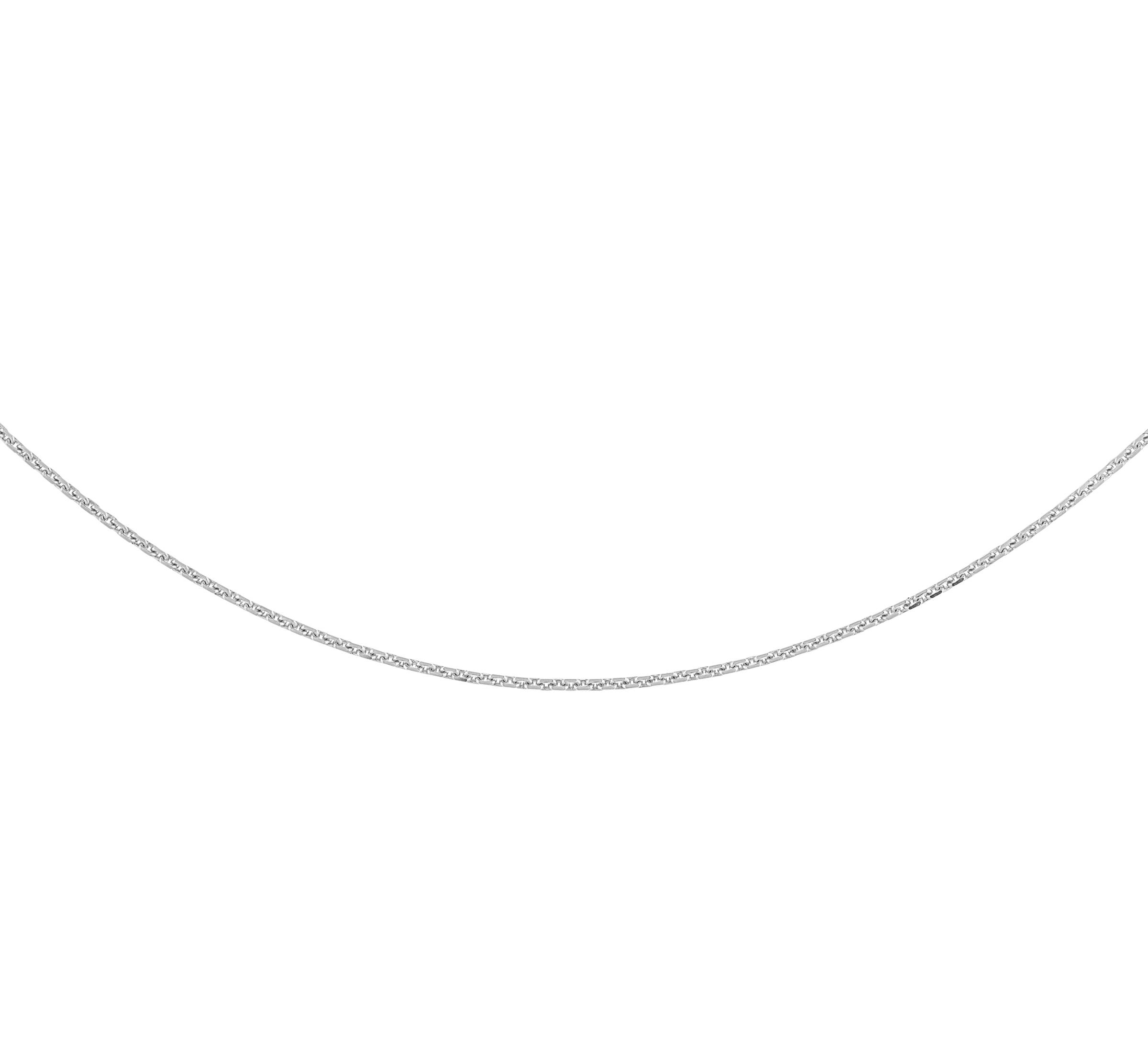 18'' Links style chain for women - 10K white Gold