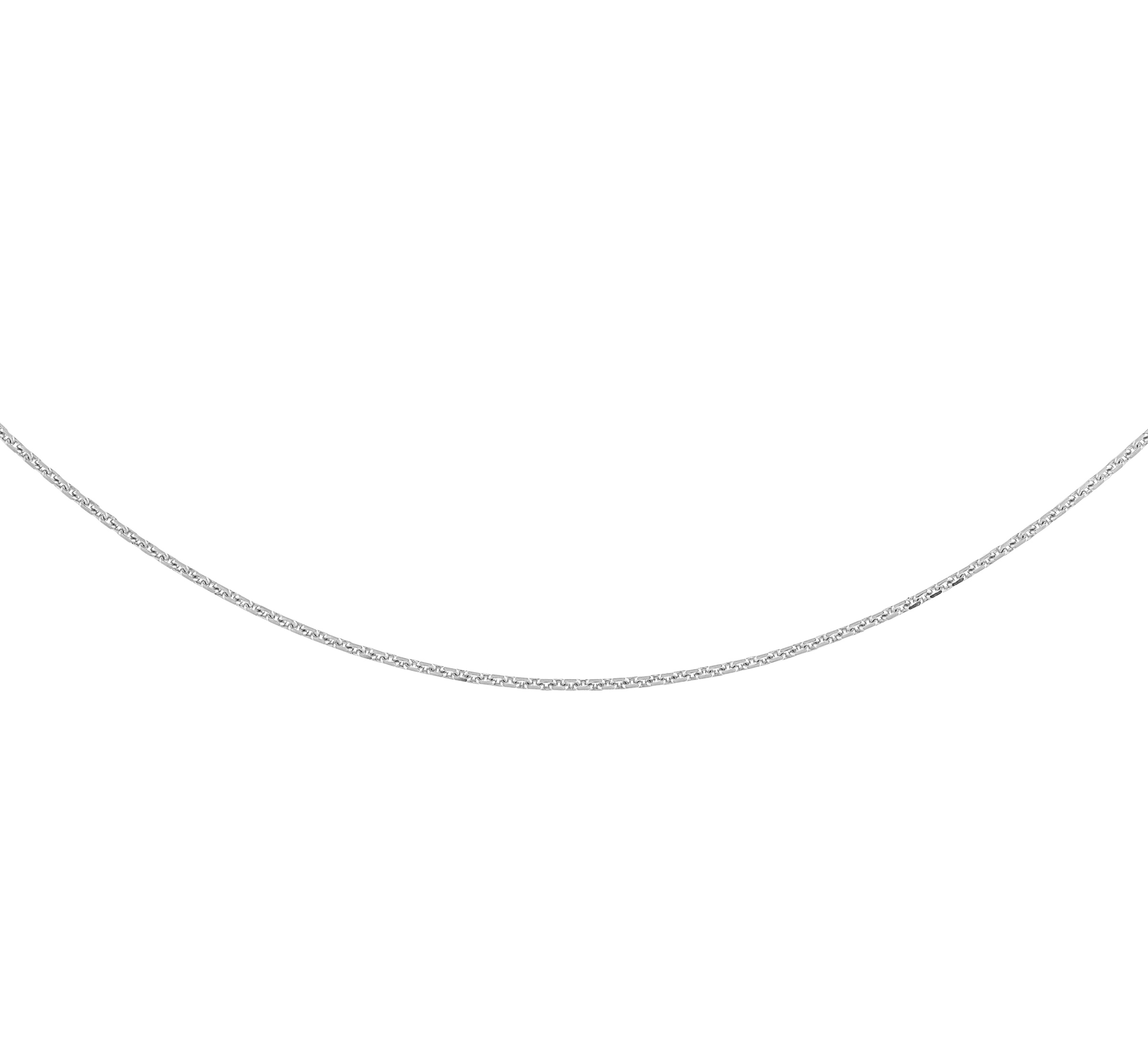 Chaîne de genre maillons 16'' pour femme - Or blanc 10K