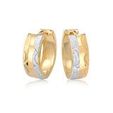 Hoop earrings for women - 10K 2-tone Gold