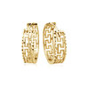 Hoop earrings in 10K 2-tone gold