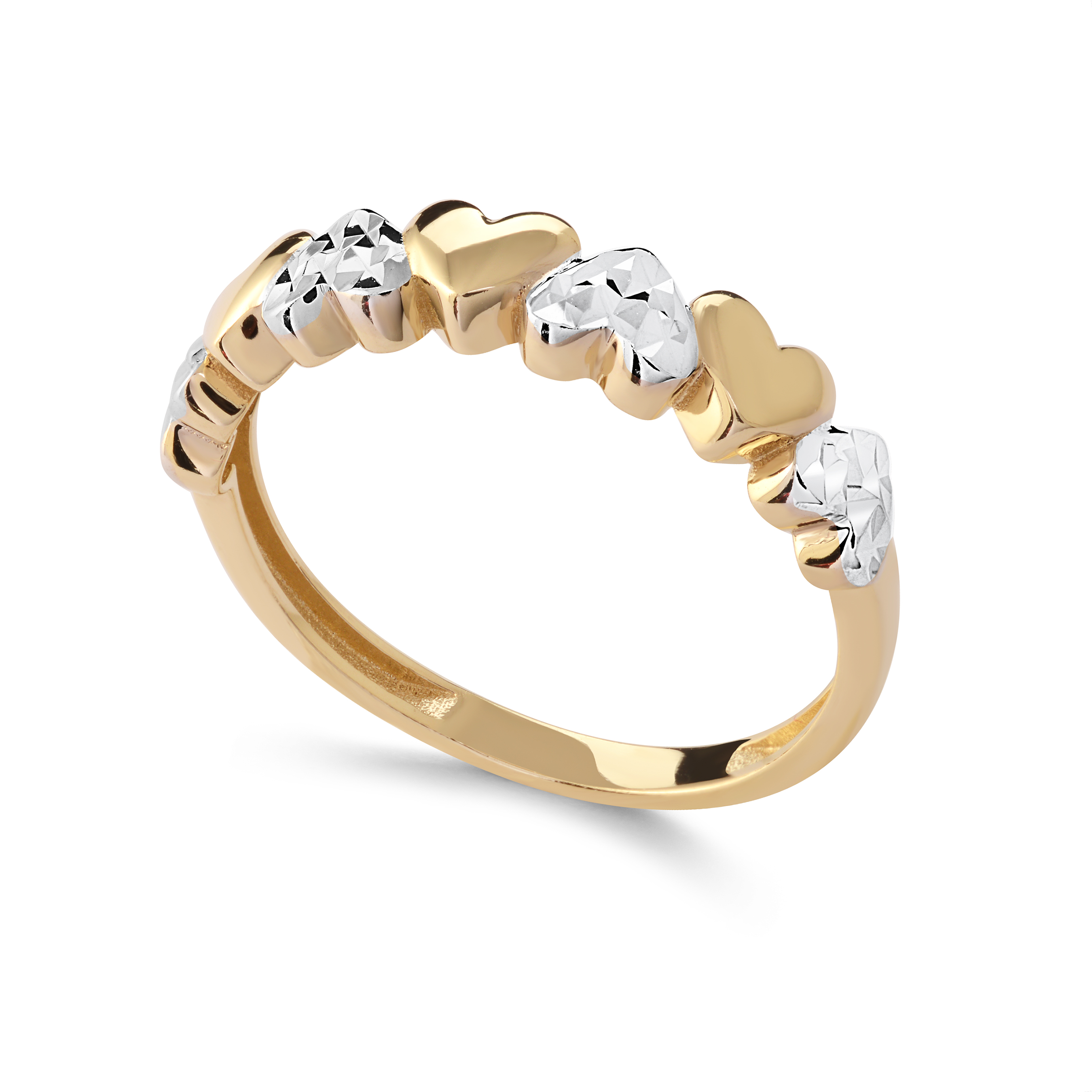 Women's Heart band - 10K 2-tone Gold
