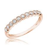 Jonc semi-éternité - Or rose 10K & 11 diamants totalisant 0.25 Carat