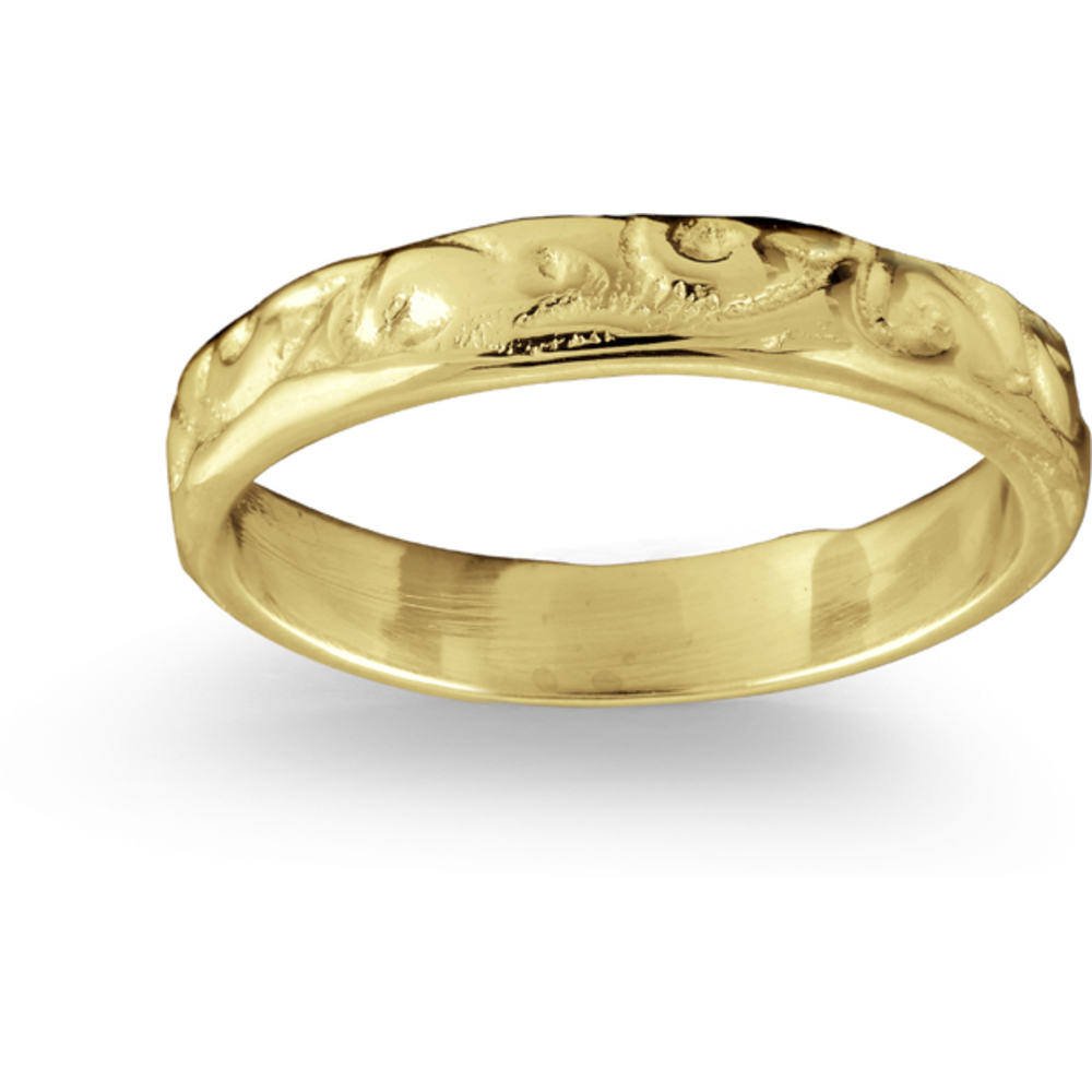Baby's band texture finish - 10K yellow Gold