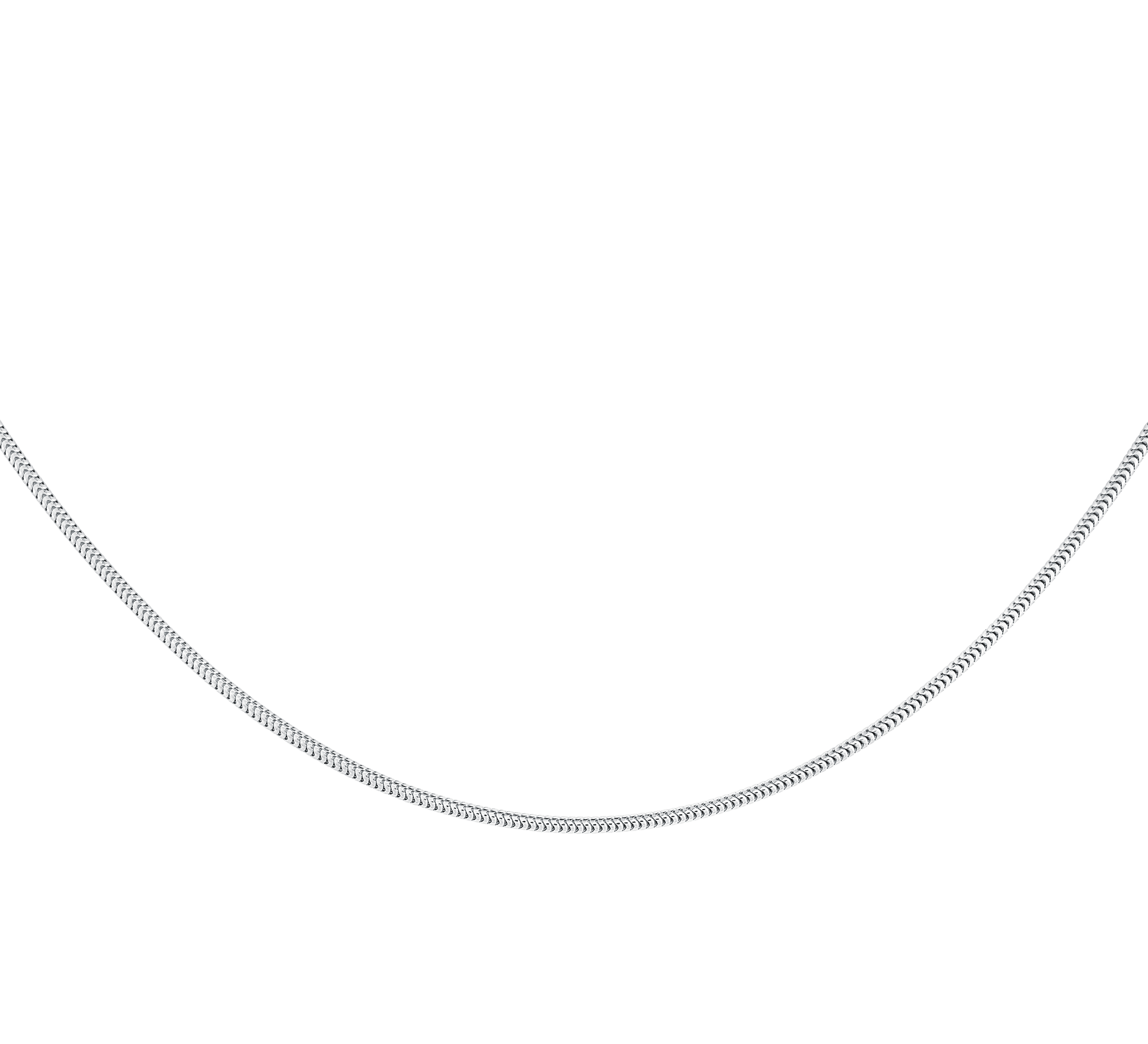20'' Chain for women - Sterling silver with a rhodium plated finish