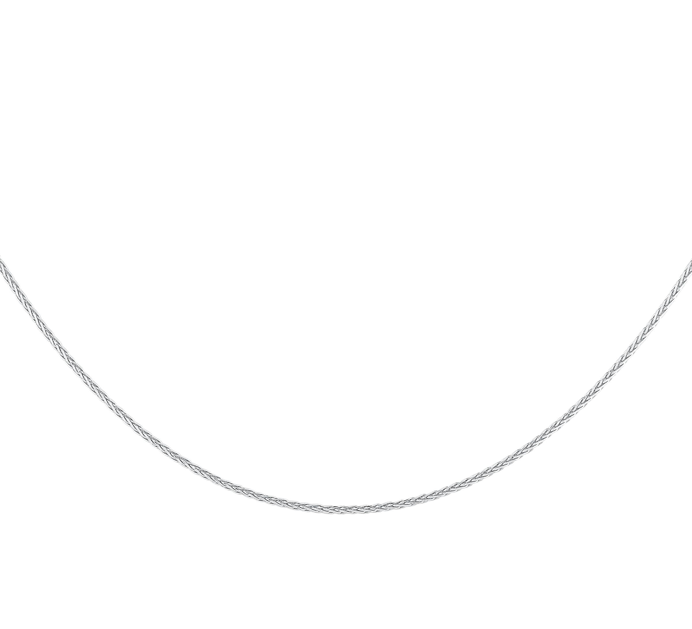 Chaîne 18'' - Argent sterling avec fini  plaqué rhodium