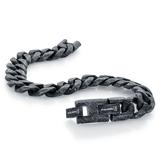 Curb bracelet - Black stainless steel