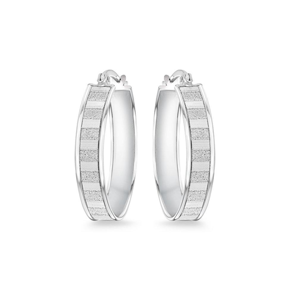 Boucles d'oreilles anneaux pour femme - Argent sterling