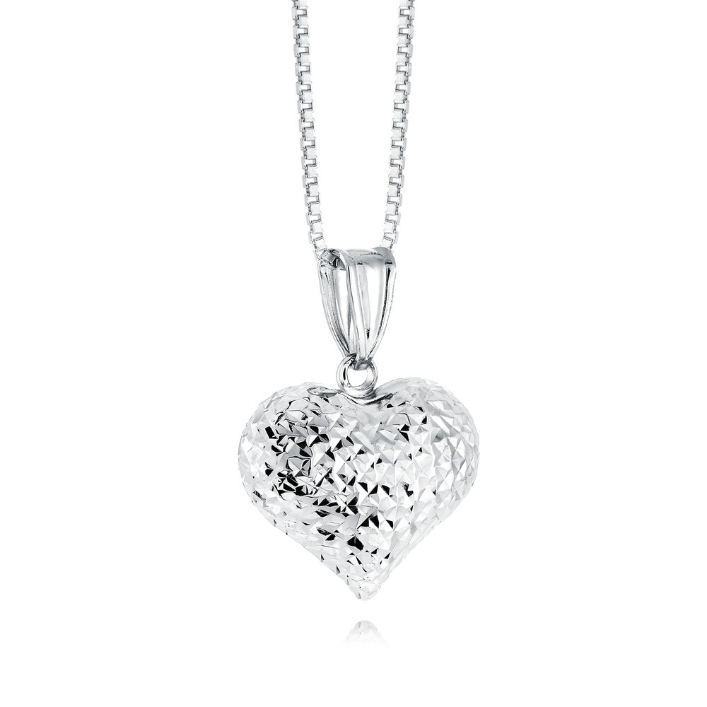 Heart pendant for woman - Sterling silver