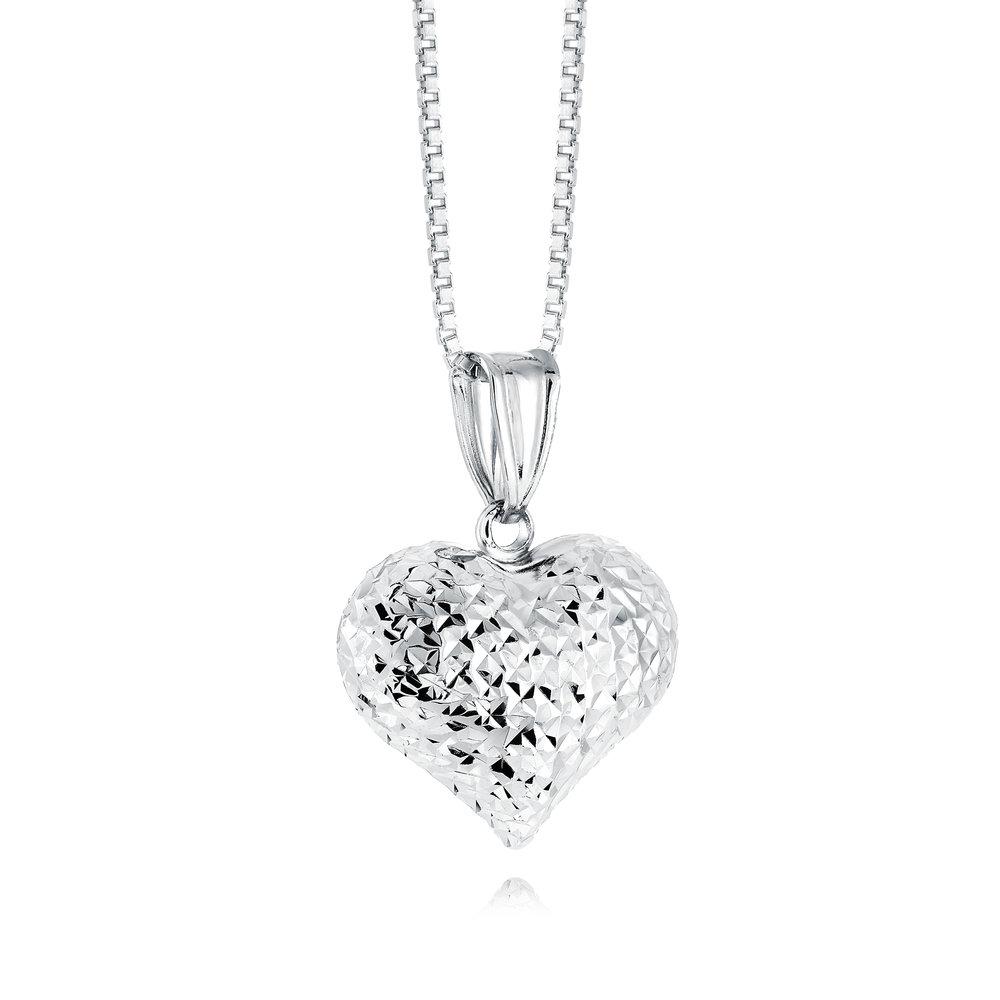 Pendentif coeur pour femme - Argent sterling