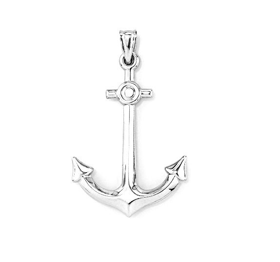 Anchor pendant for woman - Sterling silver