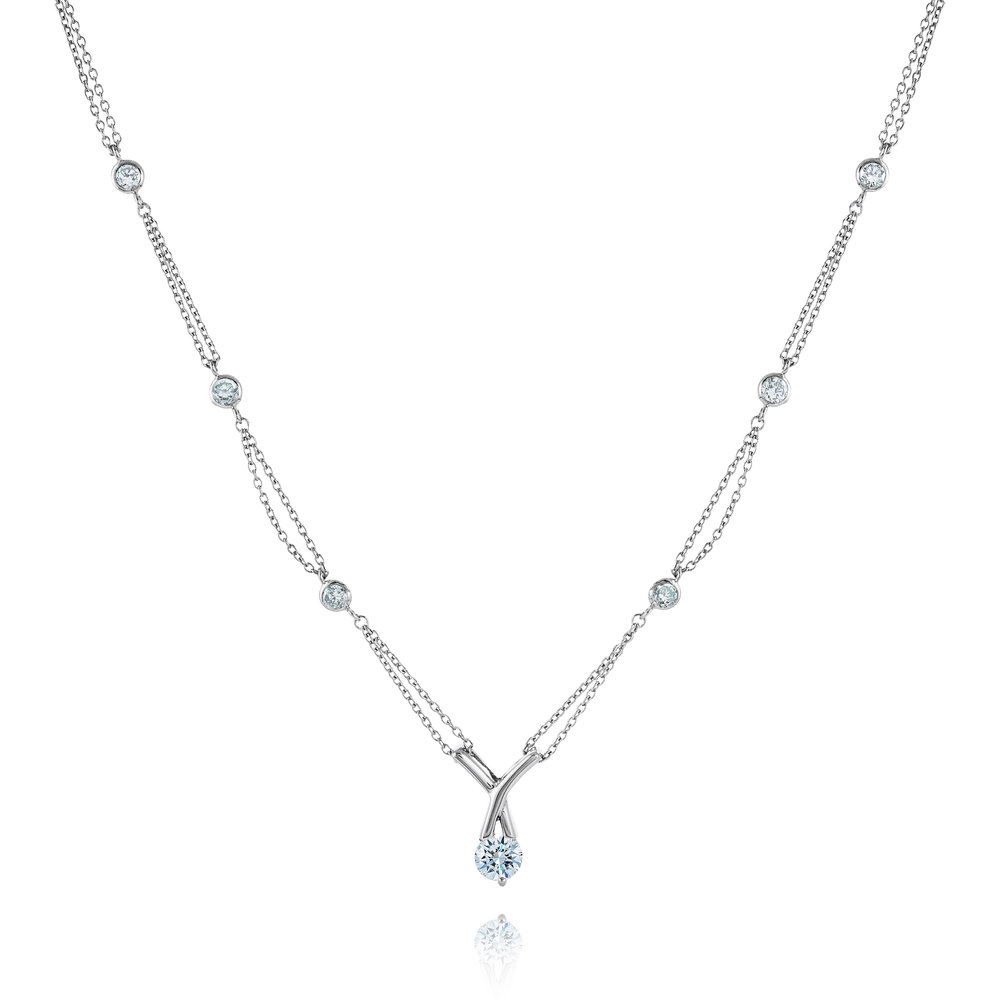 Necklace for woman - Sterling silver & Cubic zirconia