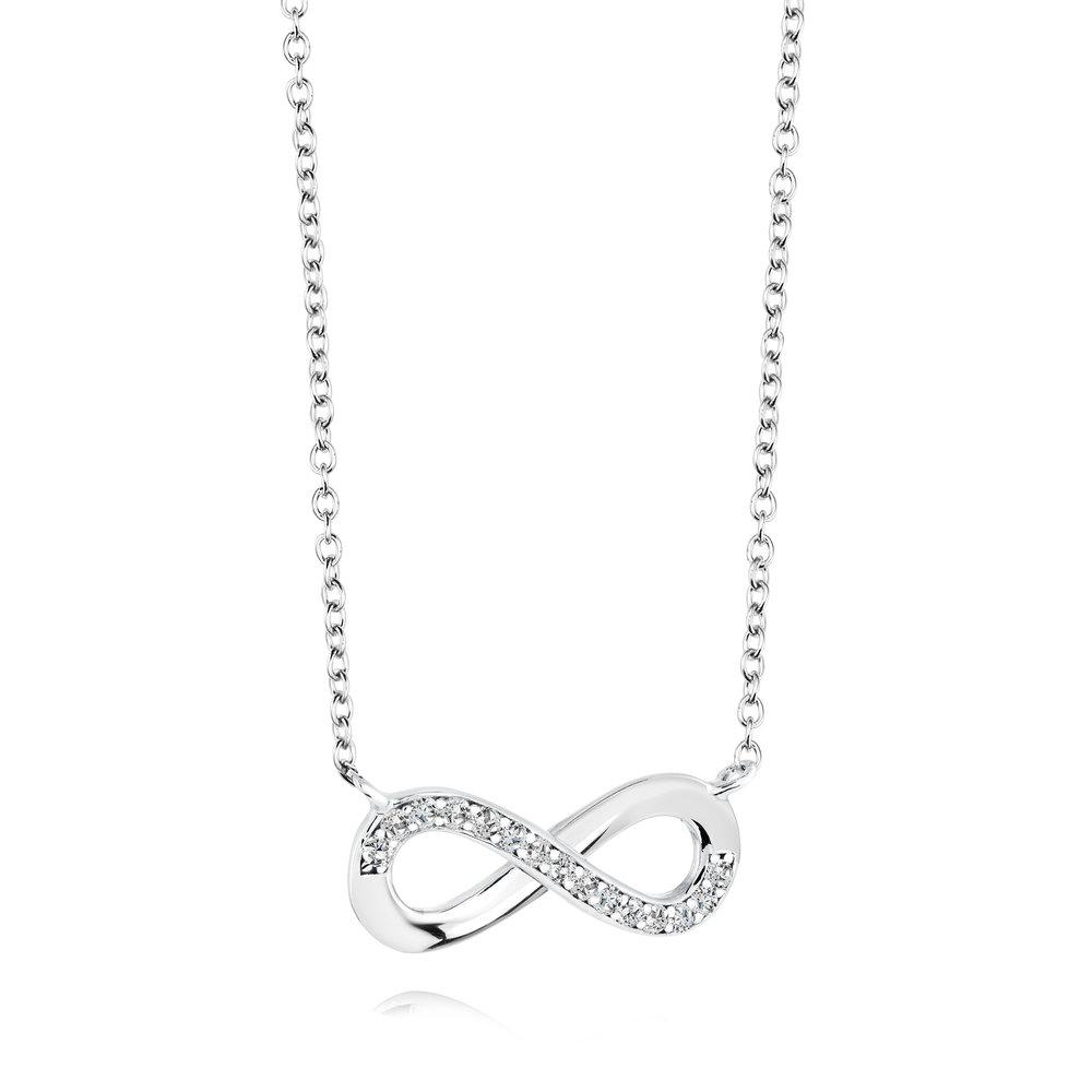 Collier infini pour femme - Argent sterling & Zircons cubiques
