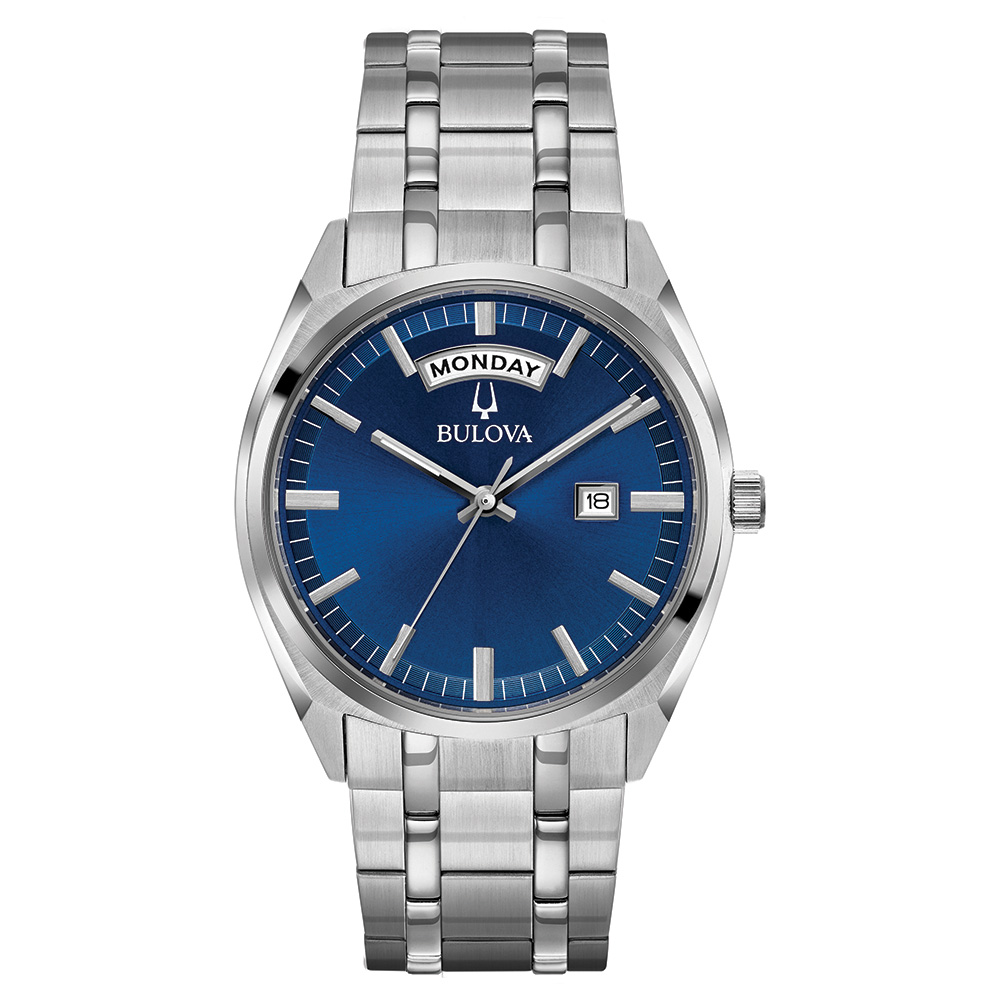 Bulova watch with quartz movement for men - Stainless steel