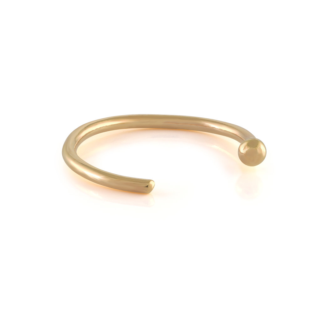 Nose hoop - 10K yellow Gold