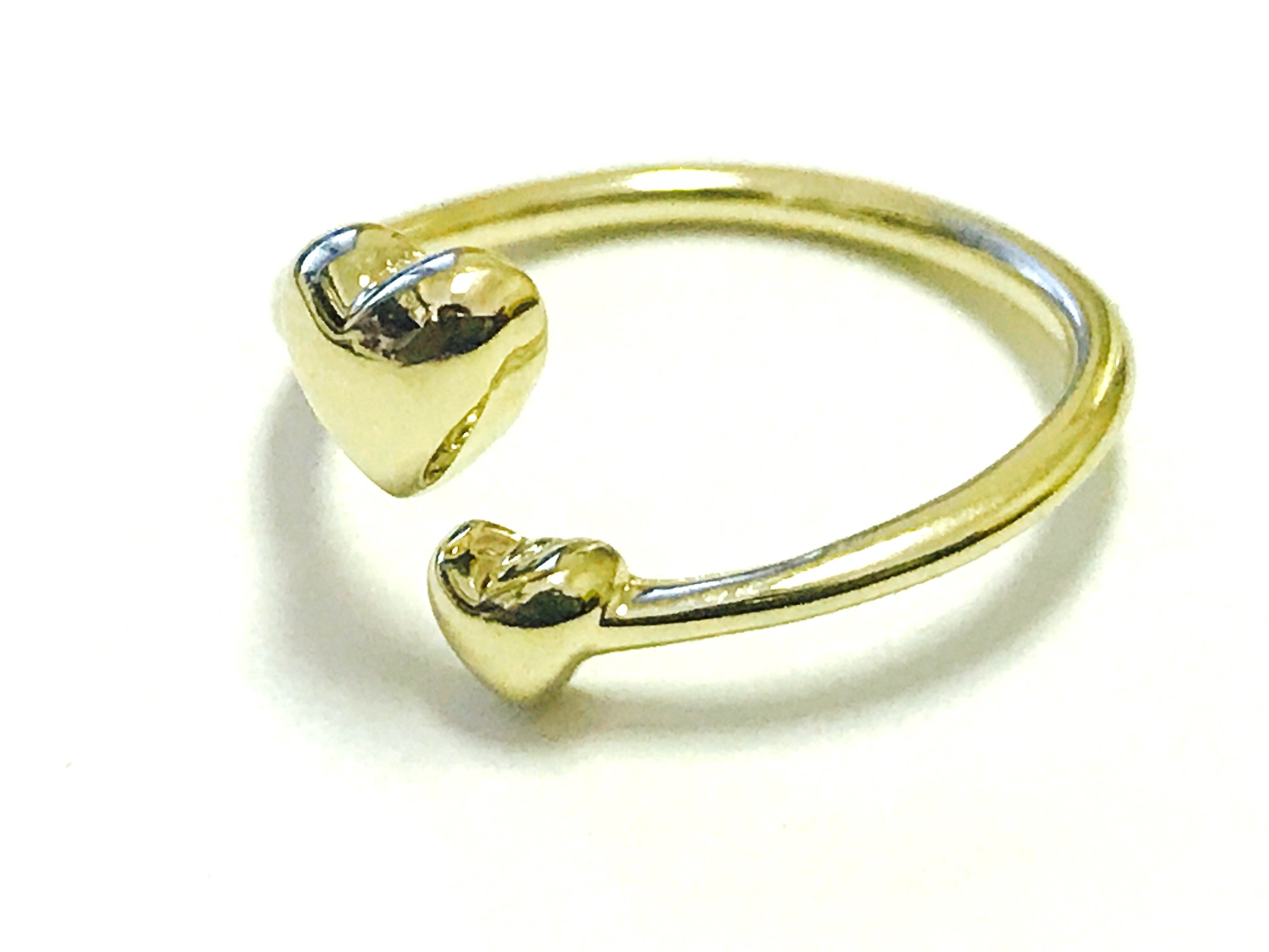 Heart toe ring - 10K yellow Gold