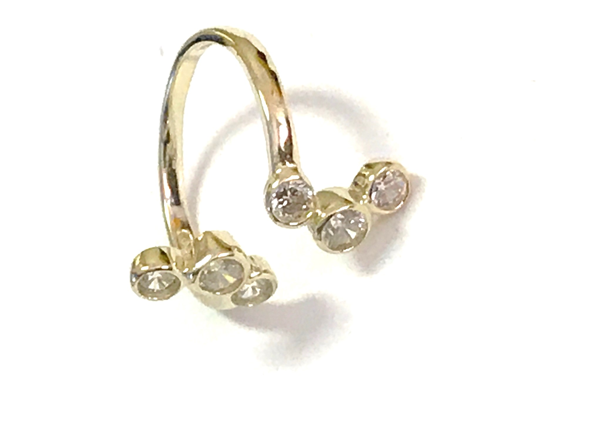 Toe ring - 10K yellow Gold & cubic zirconia