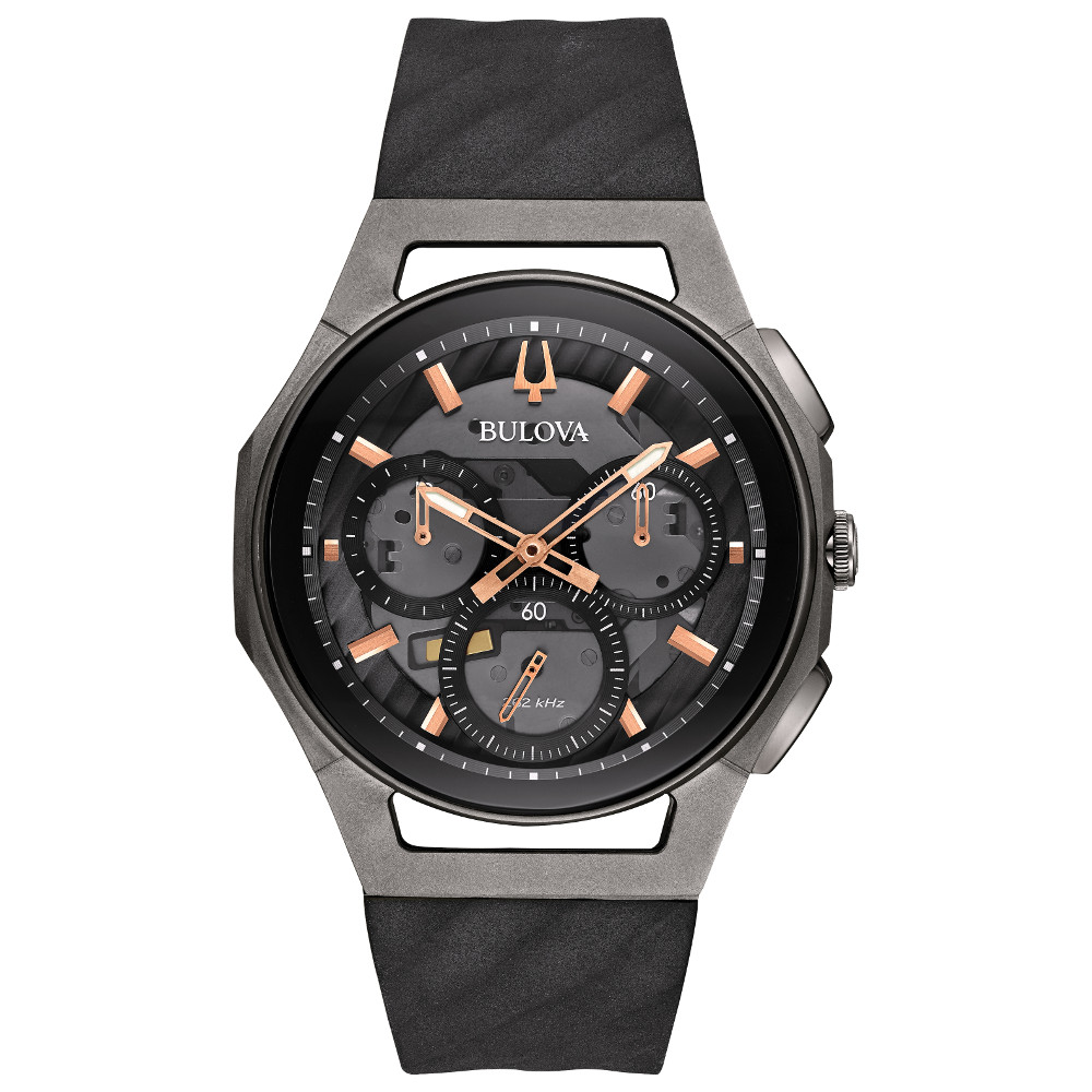 Watch for Men - Black rubber strap