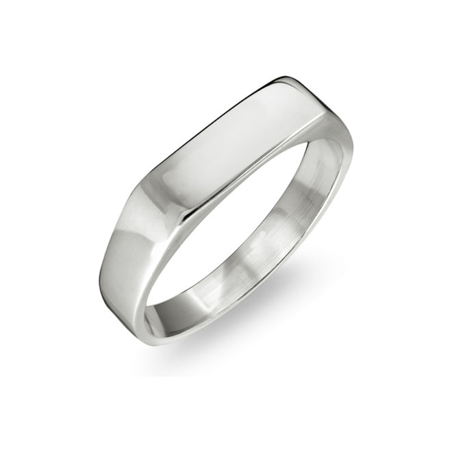 Baby's signet ring - 10K white Gold