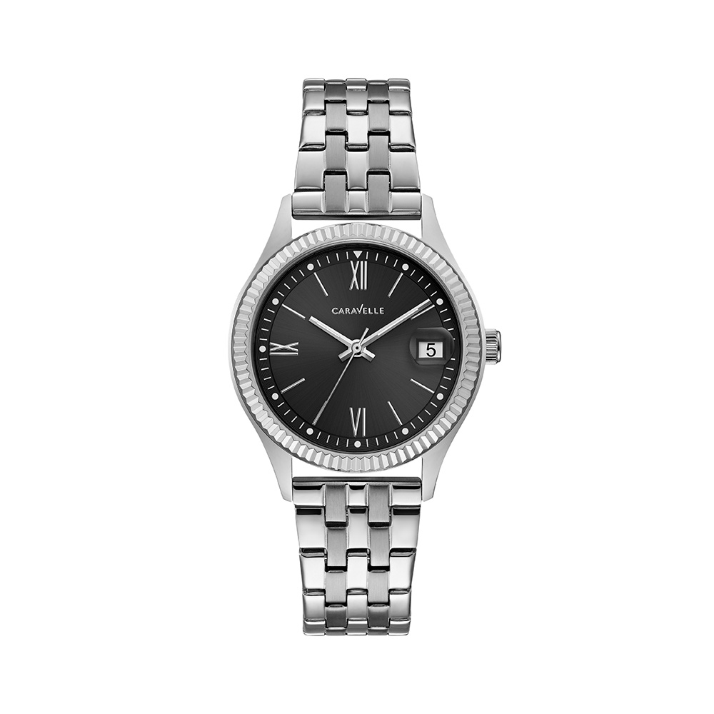 NY Watch for Women - Stainless steel & Graphic black dial