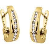 Boucles d'oreilles - Or jaune 10K & Diamants totalisant 10pts.