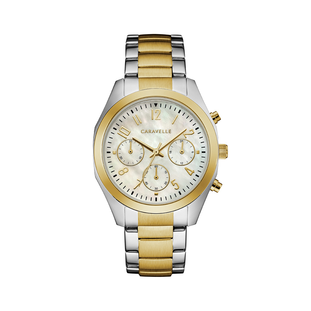 NY Watch for Women -  2-tone Stainless steel & Mother-of-pearl silver-white dial