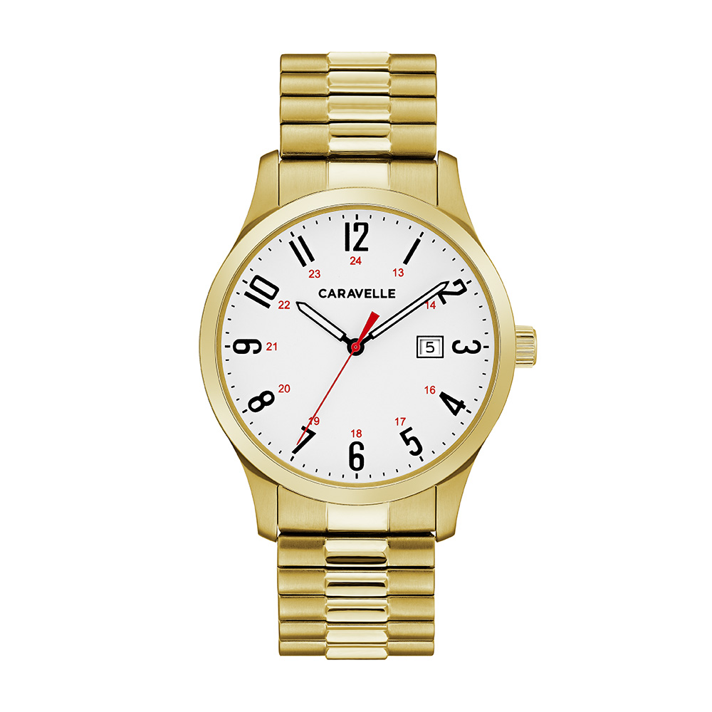 NY Watch for Men - Golden stainless steel & Expansion bracelet