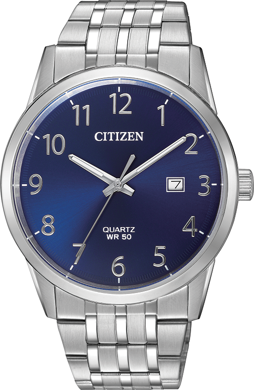 Quartz Watch for Men  - Stainless steel & Blue dial