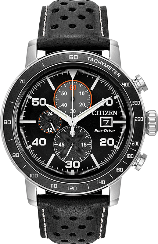 Eco-Drive Watch for Men - Stainless steel & Leather strap