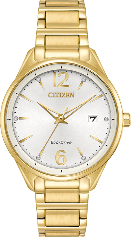 Eco-Drive Watch for Women - Golden stainless steel