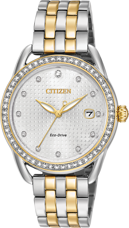 Eco-Drive Watch for Women - 2-tone Stainless steel