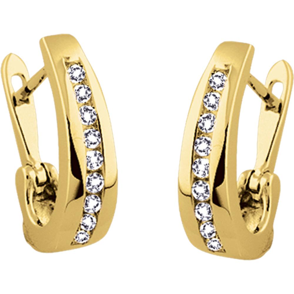 Boucles d'oreilles - Or jaune 10K & Diamants totalisant 50pts.