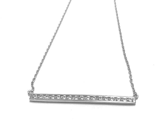 Collier barre - Argent sterling & Zircons cubiques
